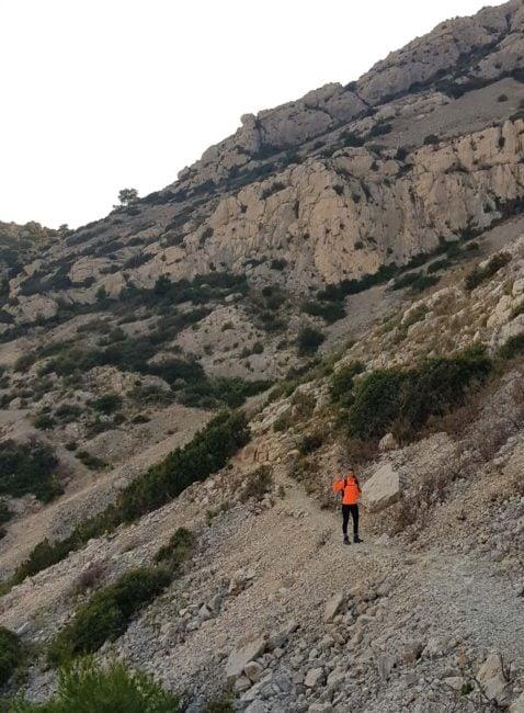 meeri wild en direction du Cap de Morgiou