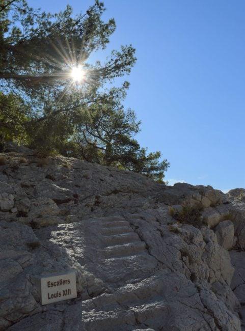 escalier calanque Morgiou