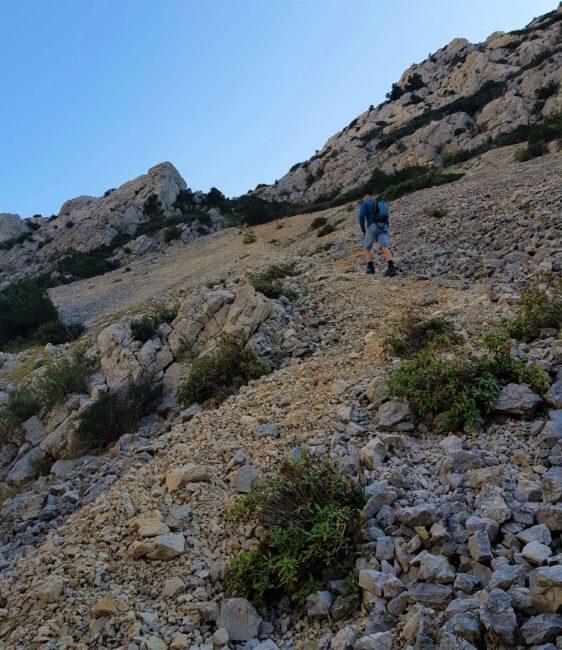 montée vers cap Morgiou