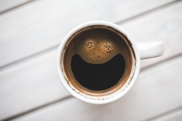 smiley sourire de café exfoliant naturel