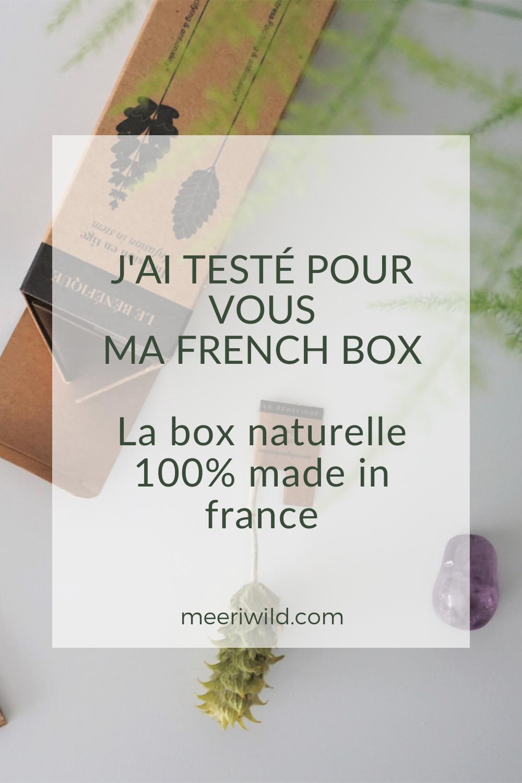 j'ai testé pour vous ma french box La box naturelle 100% made in france