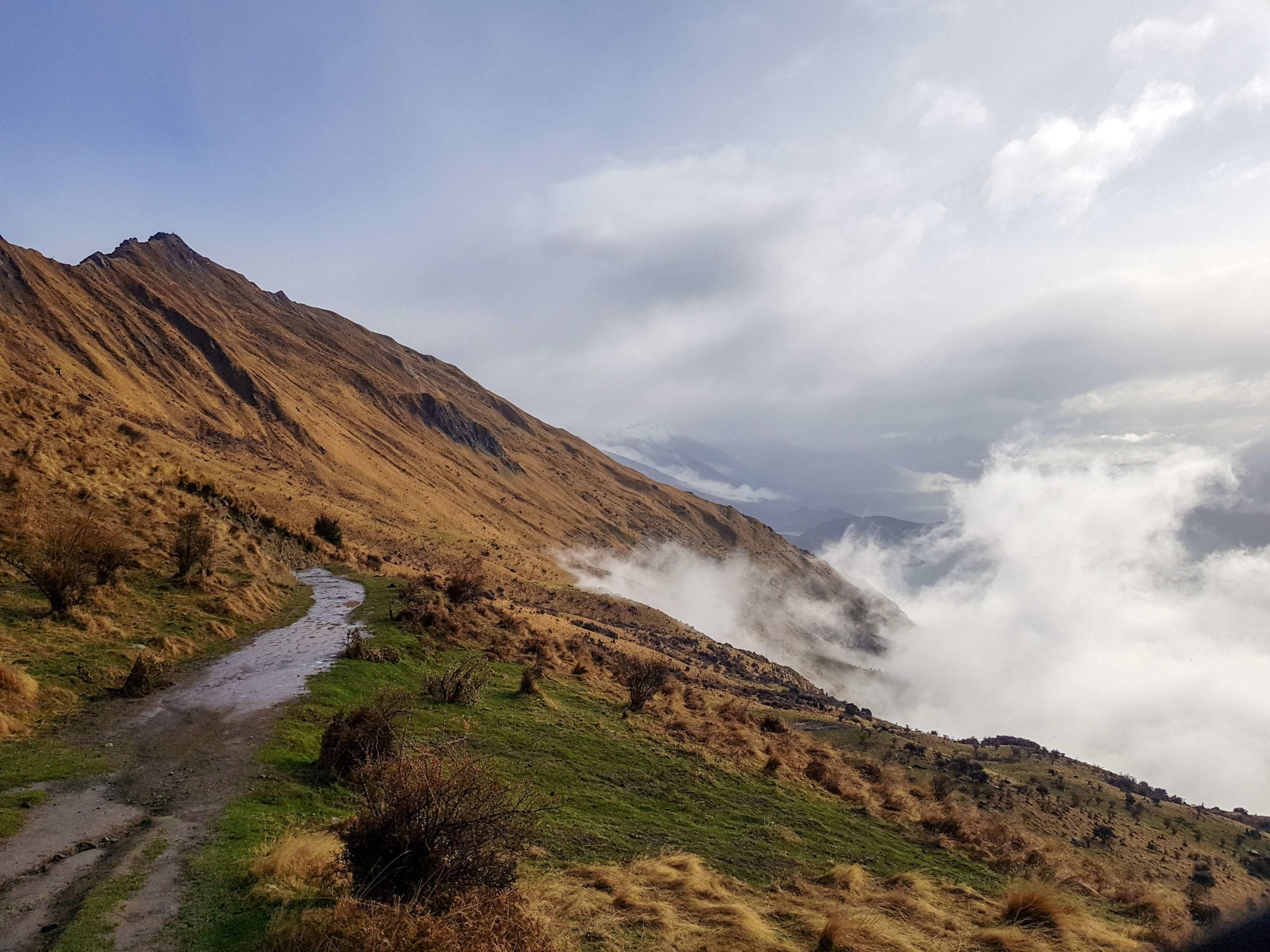 Chemin de randonnée Roys Peak à Wanaka Nouvelle-Zélande