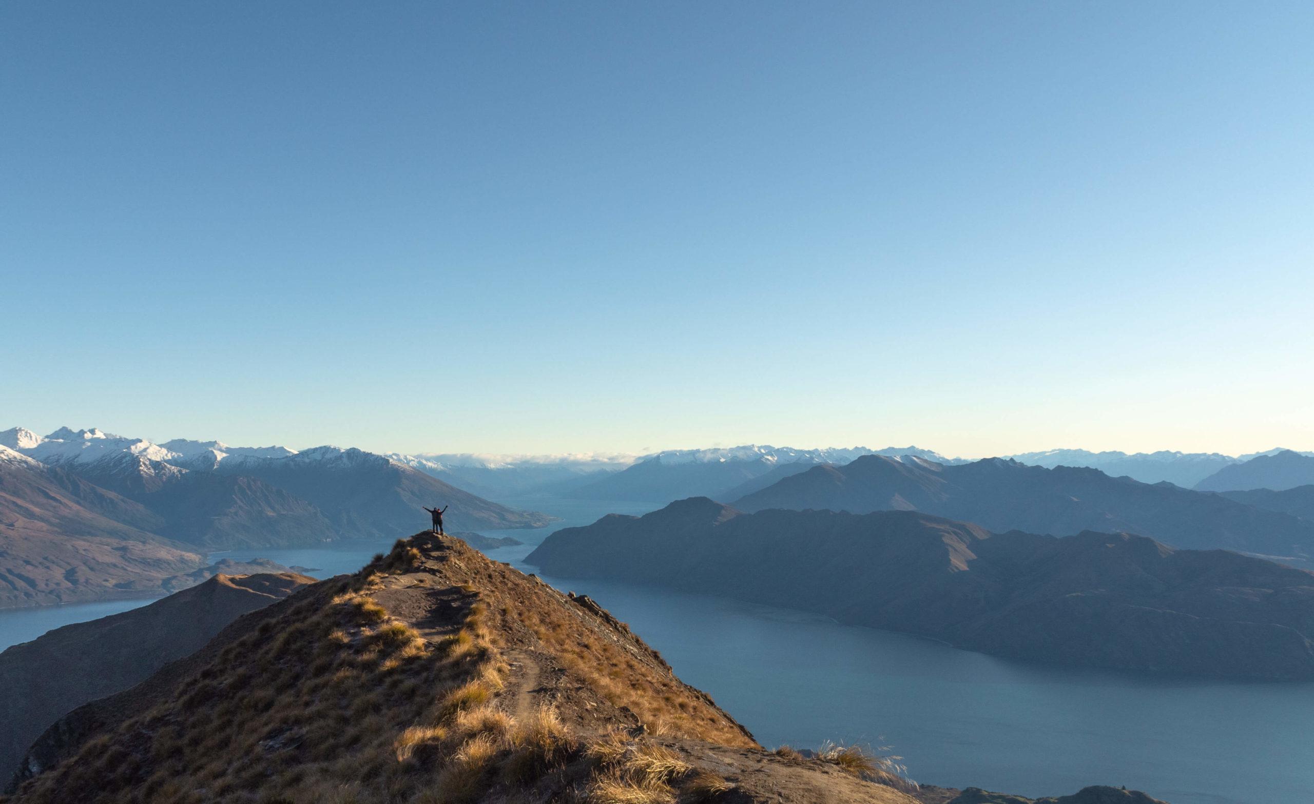 Point de vue pendant la randonnée sur le Roys Peak