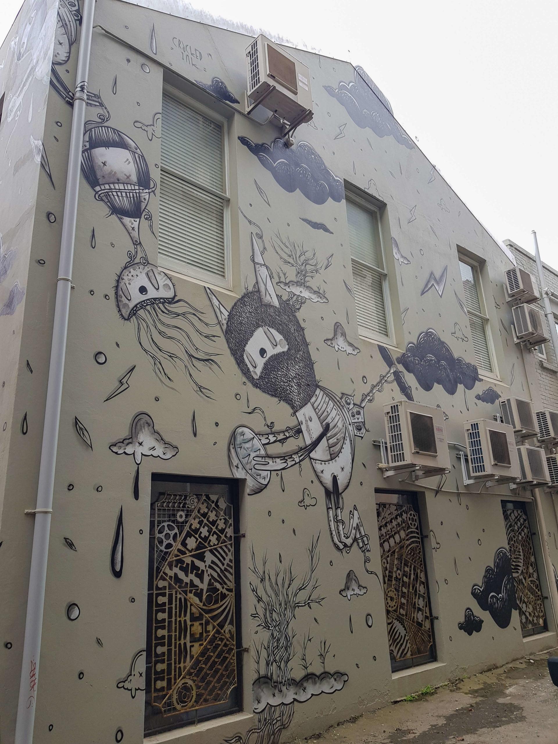 Graf street art trail Dunedin