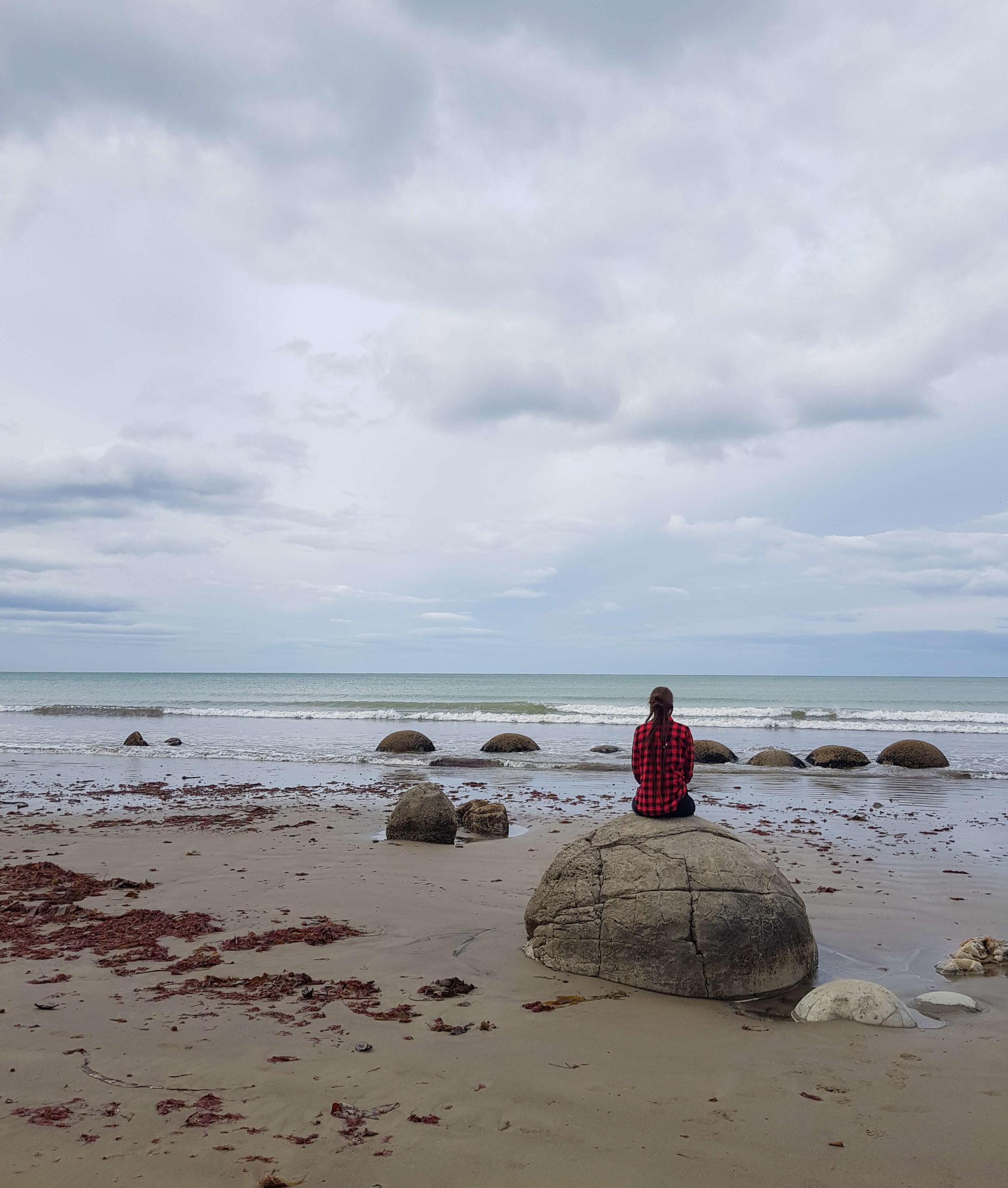 Meeriwild Moeraki boulders Nouvelle-Zélande