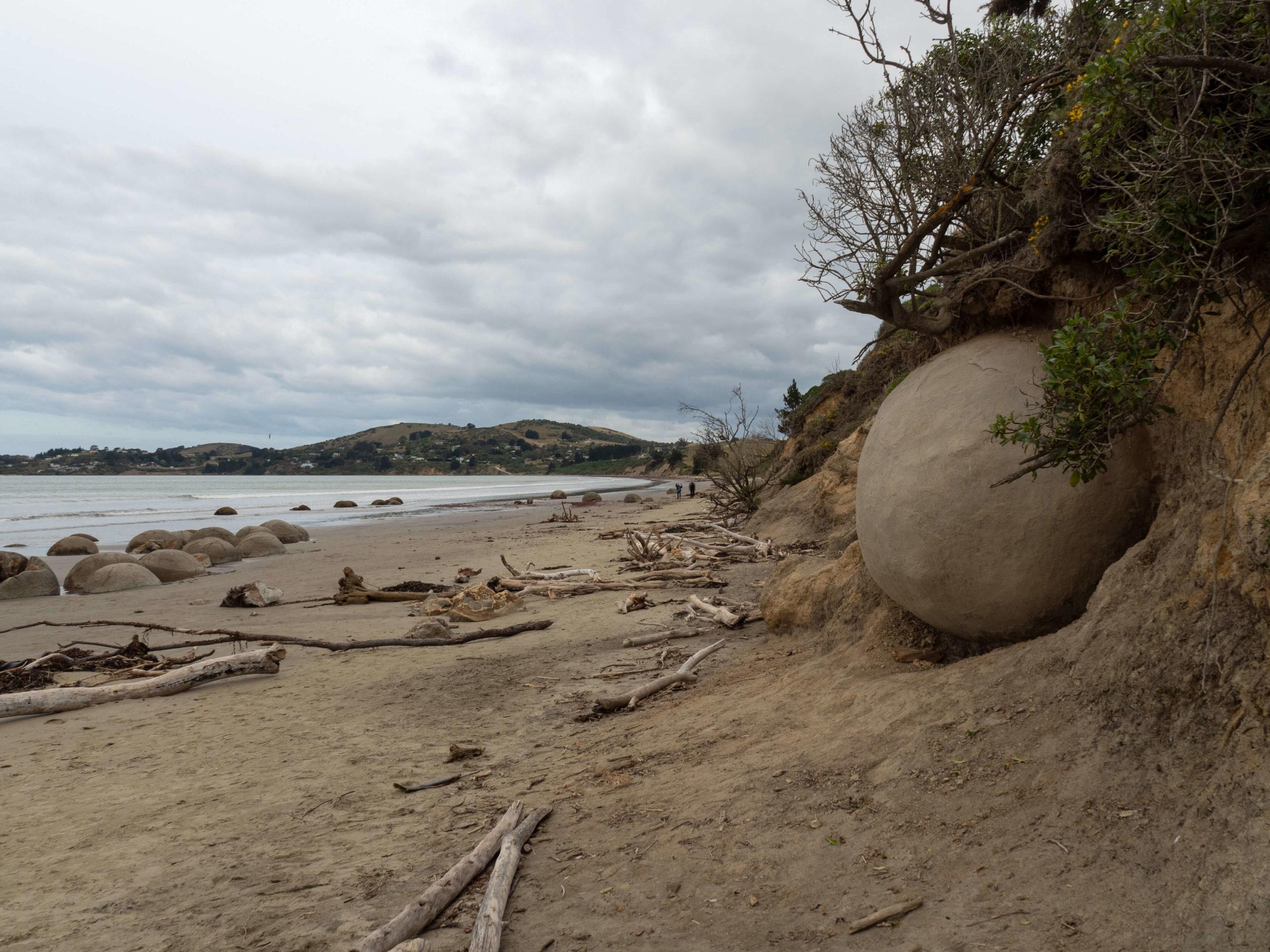 Moeraki boulders plage de pierres Nouvelle-Zélande