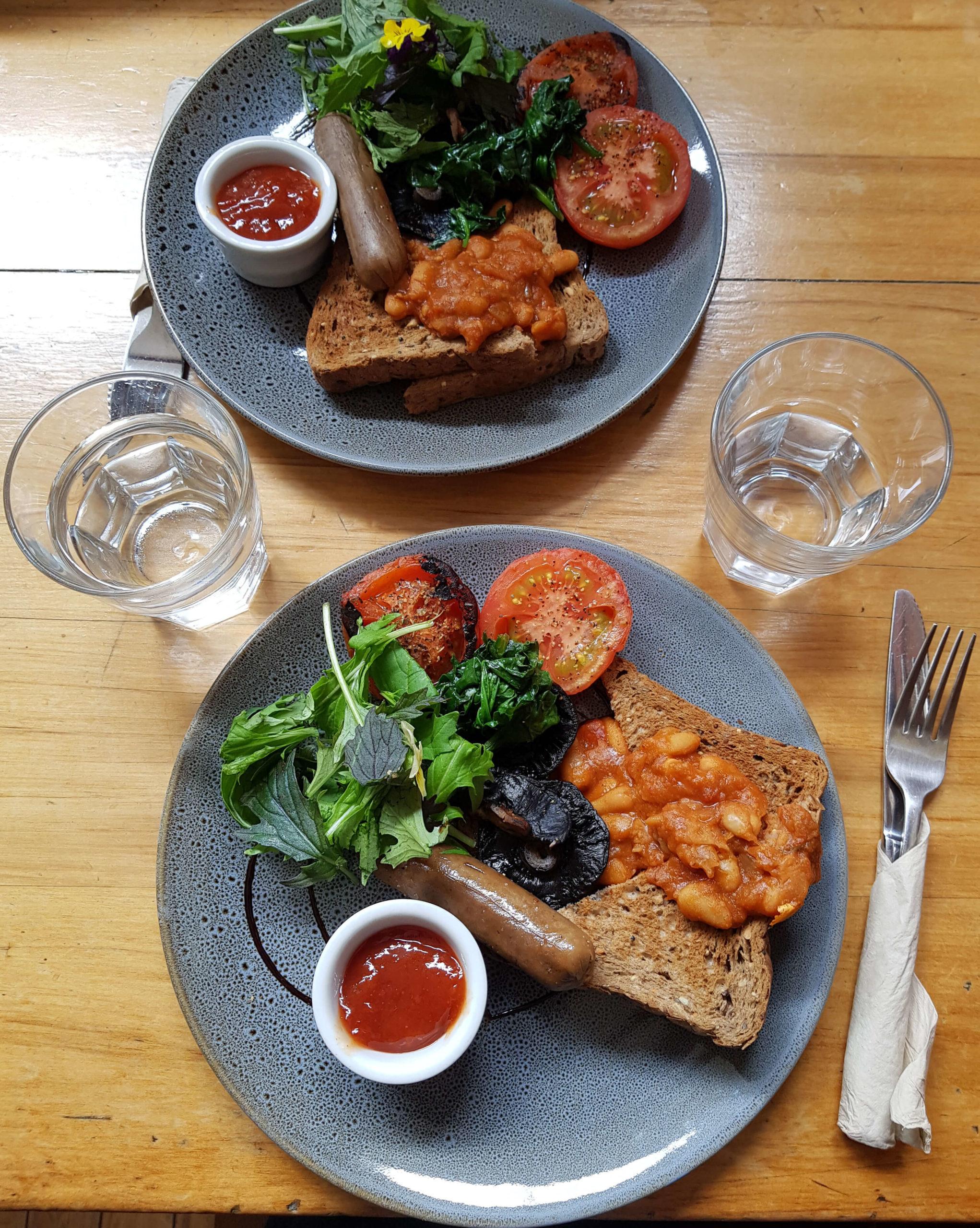 Vegan breakfast Potpourri vegeterian cafe