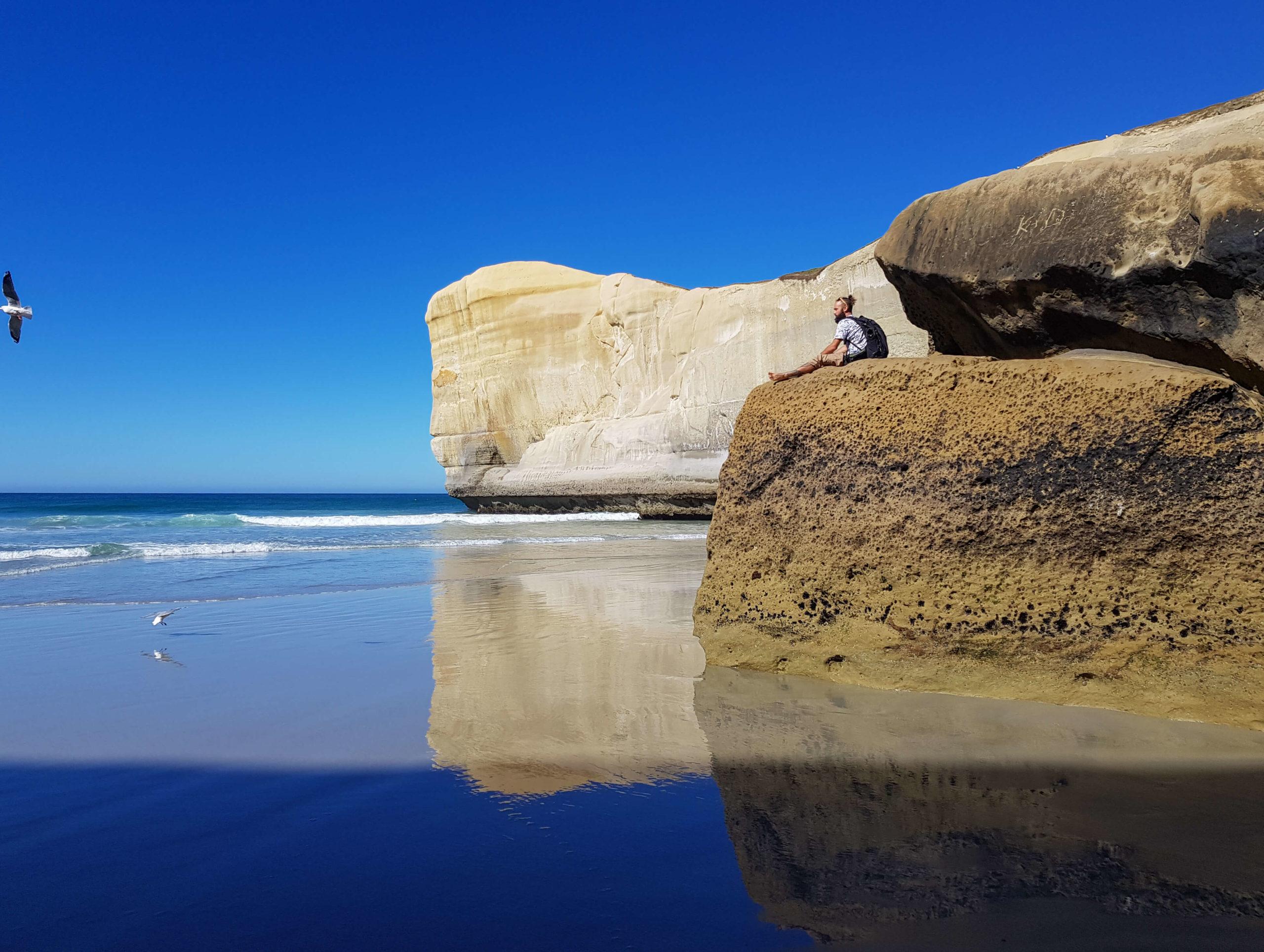 Maroudeur Tunnel beach Nouvelle-Zélande
