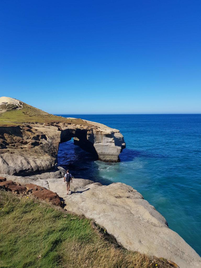 Maroudeur arche Tunnel beach Nouvelle-Zélande